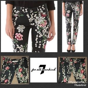 7 for all mankind, Slim black with Cherry Blossom